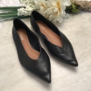 Topshop Pointy Toe Ballet Flat Super Soft Leather